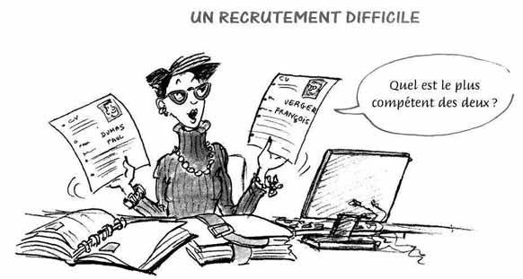 Recrutement (прием на работу)