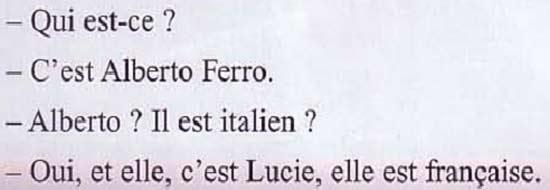 приветствие знакомство на французском