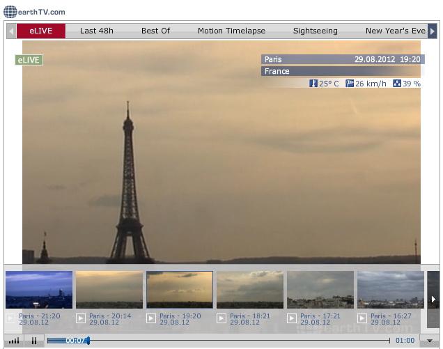 Веб камера парижа эйфелева башня geocam