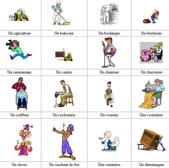 профессии на французском языке