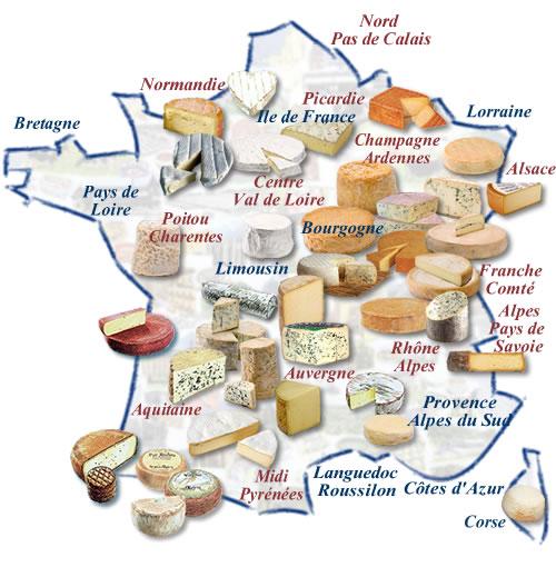 carte des fromages