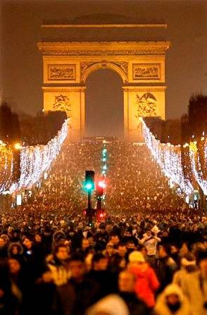 Франция, празднование Нового года