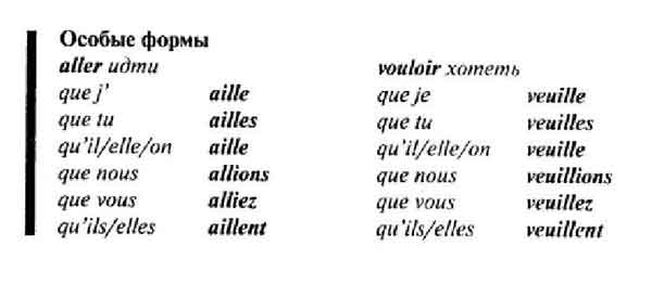 how to write in subjonctif present french