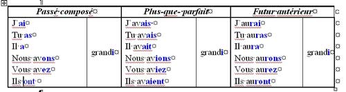 французские глаголы 2 группы