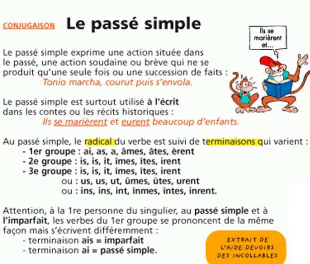 Простое прошедшее время во французском языке